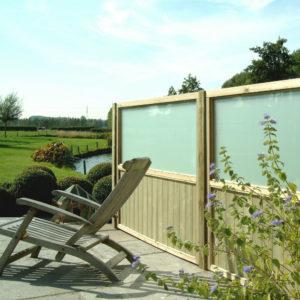 écran bois et verre pour terrasse